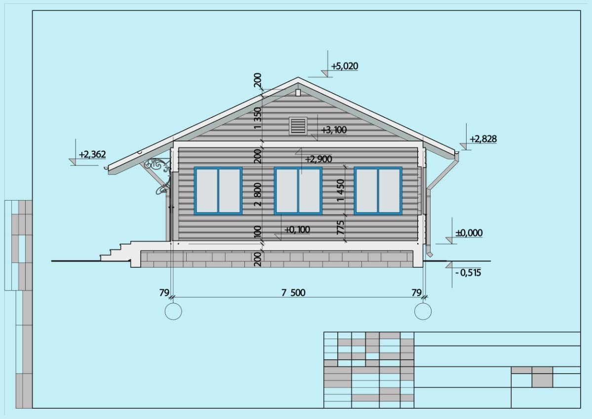 Log cabin floor plans and dimensions graph.