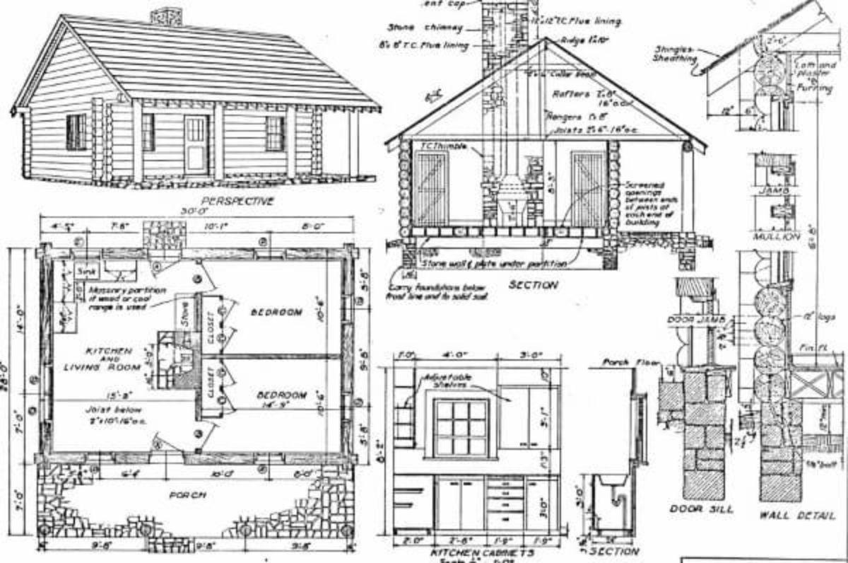 2 bedroom cabin plan