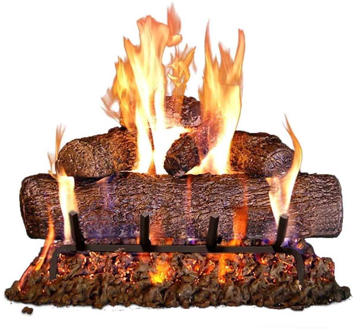 Wooden Gas Log Set