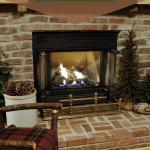 Cabin Fireplace