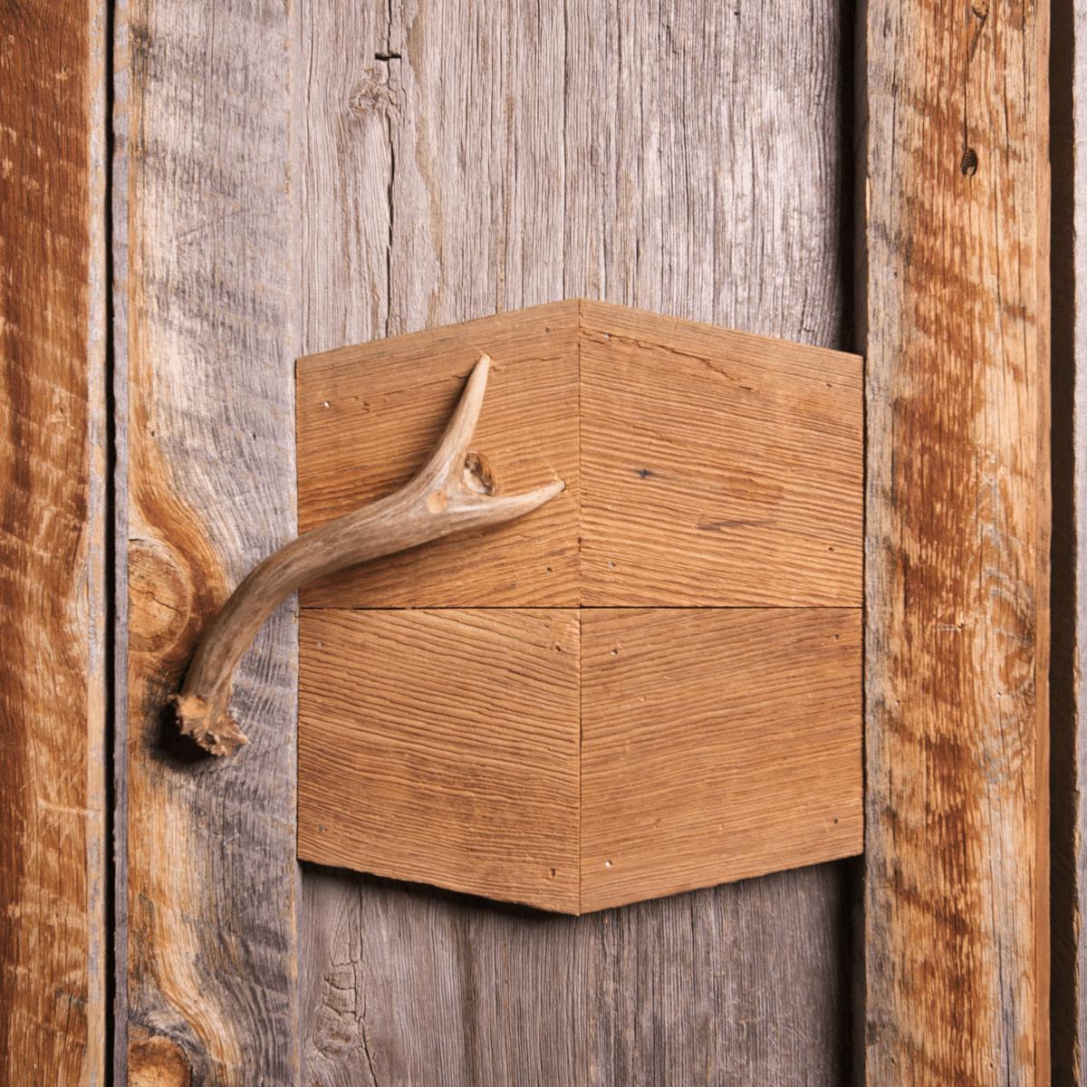close up of antler cabinet handles