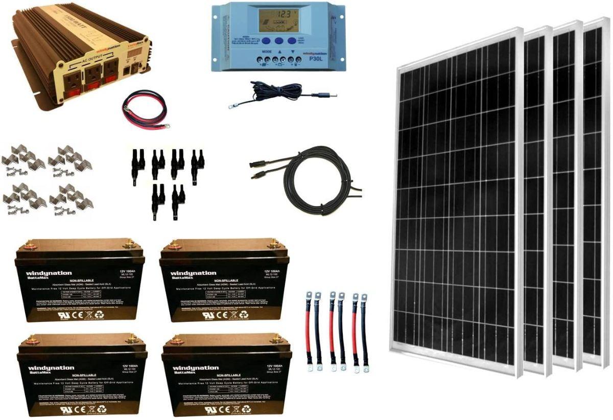 Solar Panel Kit, Power Inverter Battery System