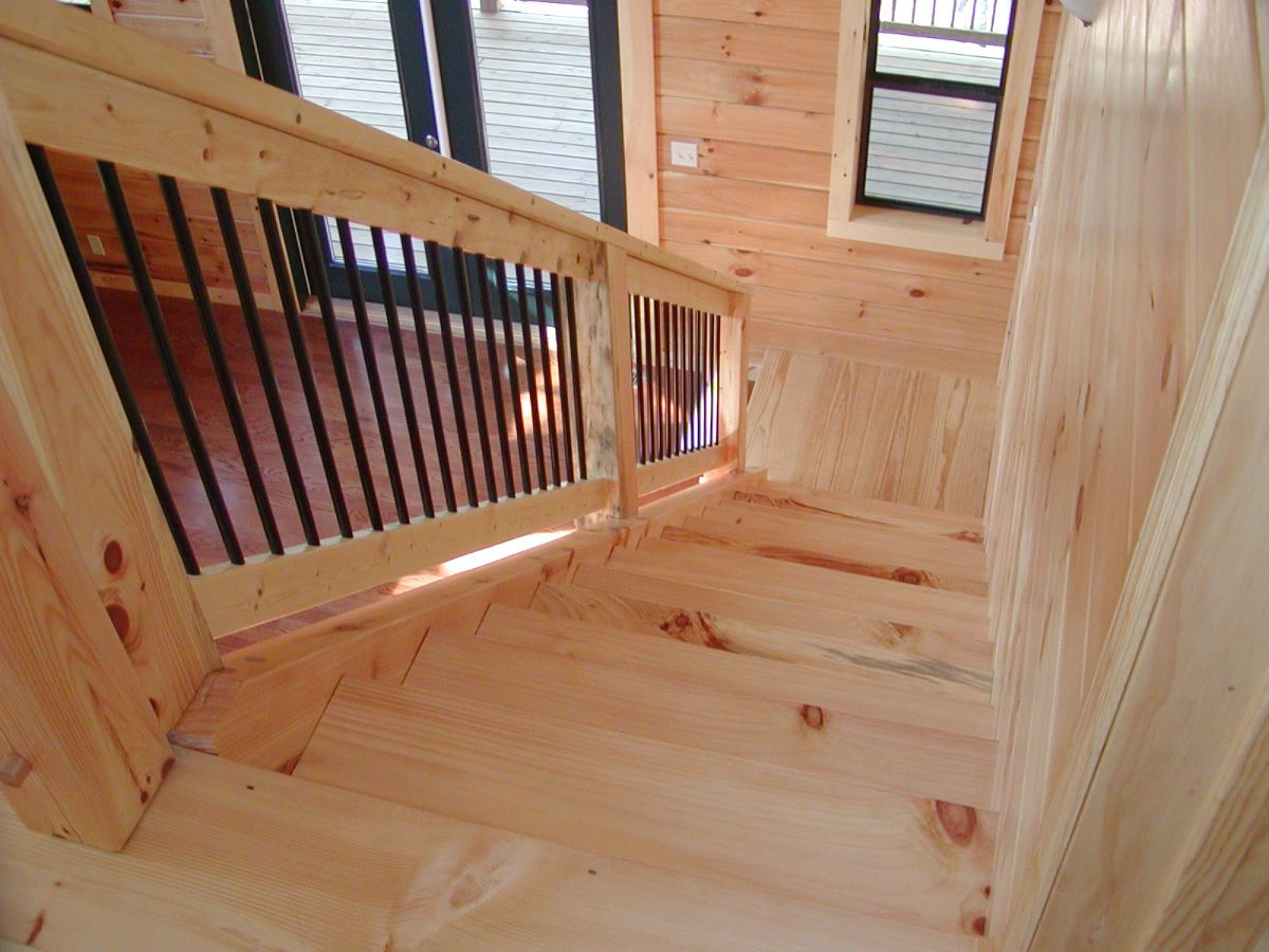 Building log stairs
