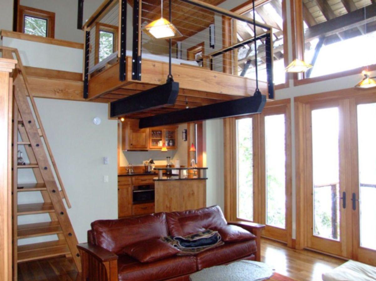 Log cabin modern interior