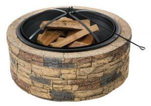 stone firepit fireplace