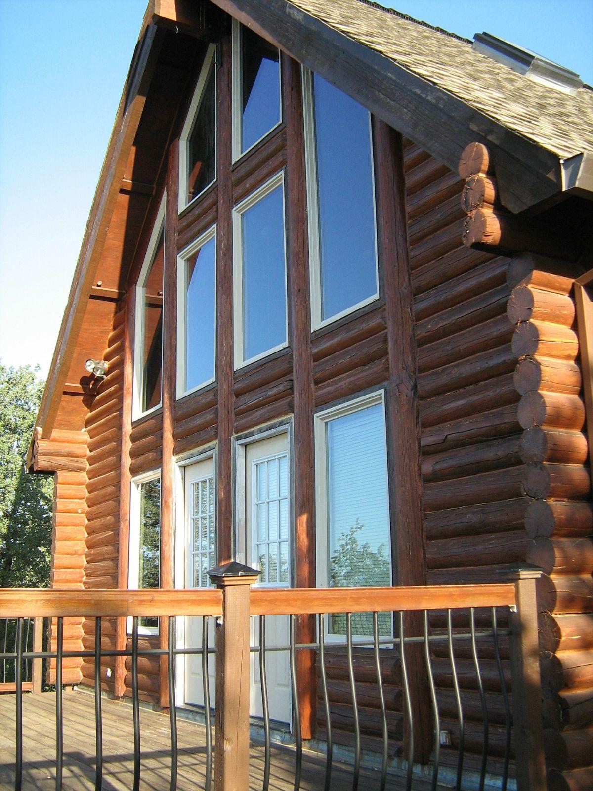 Log home windows