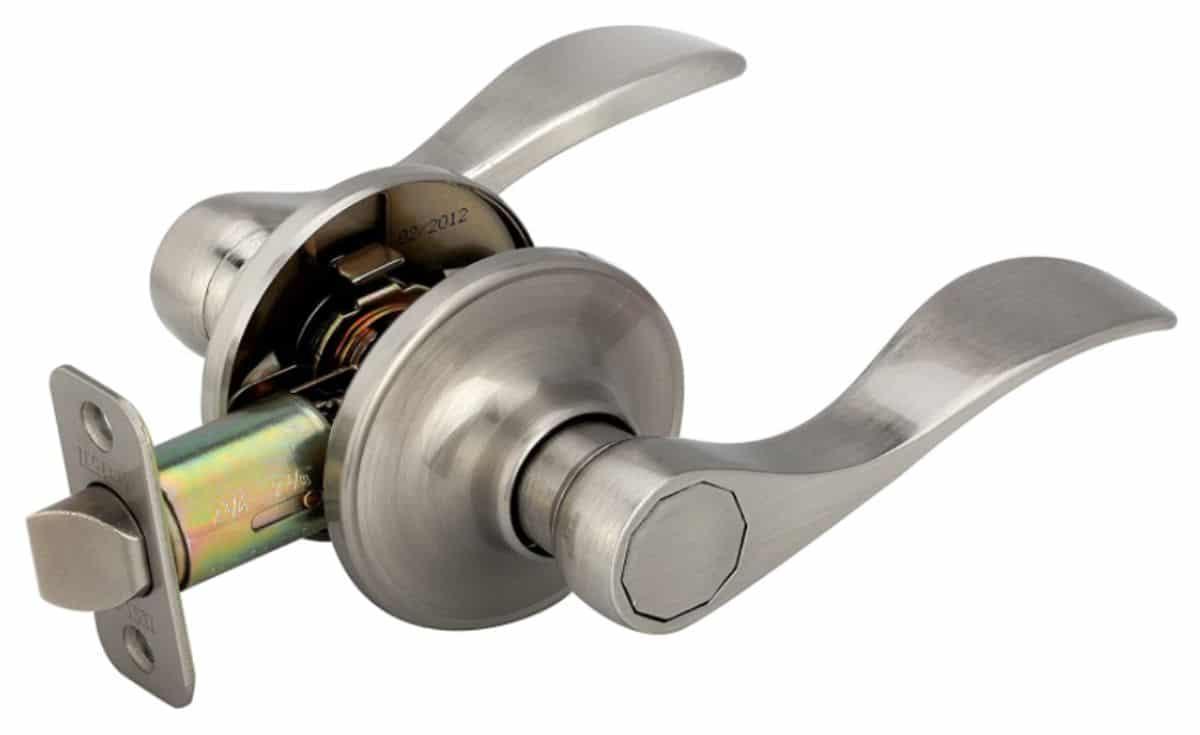 Metal door lever handle