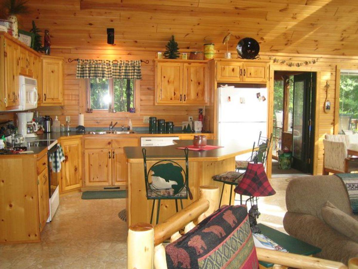 small log home interior design