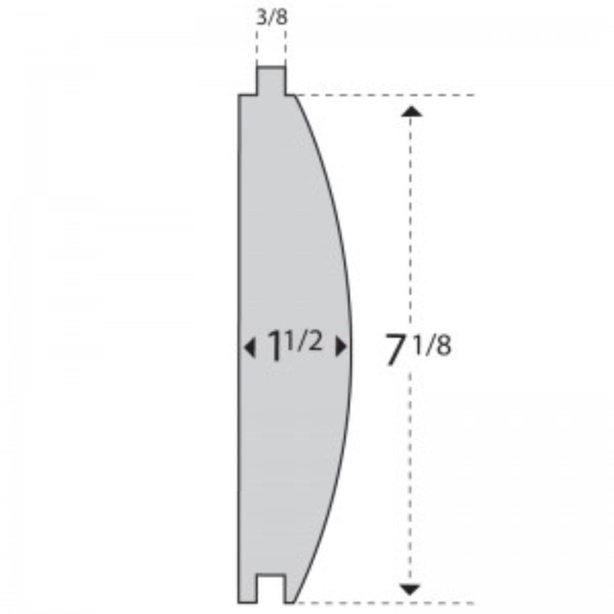 illustration of cross section of log siding