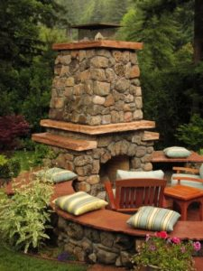 Stone Outdoor fireplace