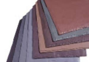 close up of rubber shingles