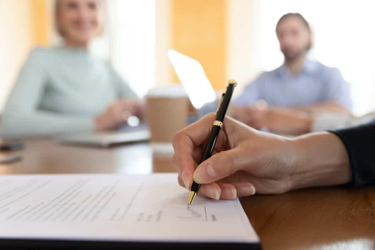 Loan Application signed by pen