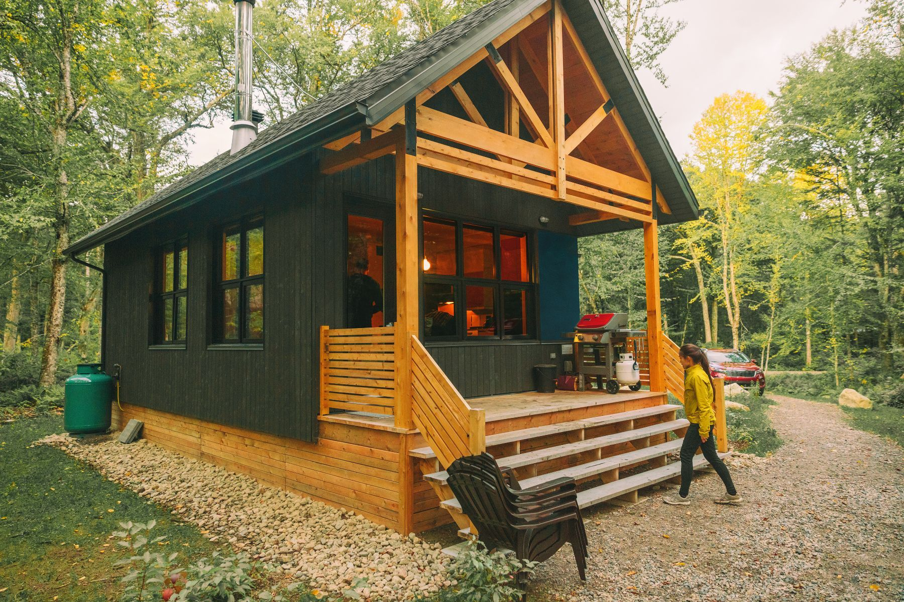 Small Log Cabin Home in woods