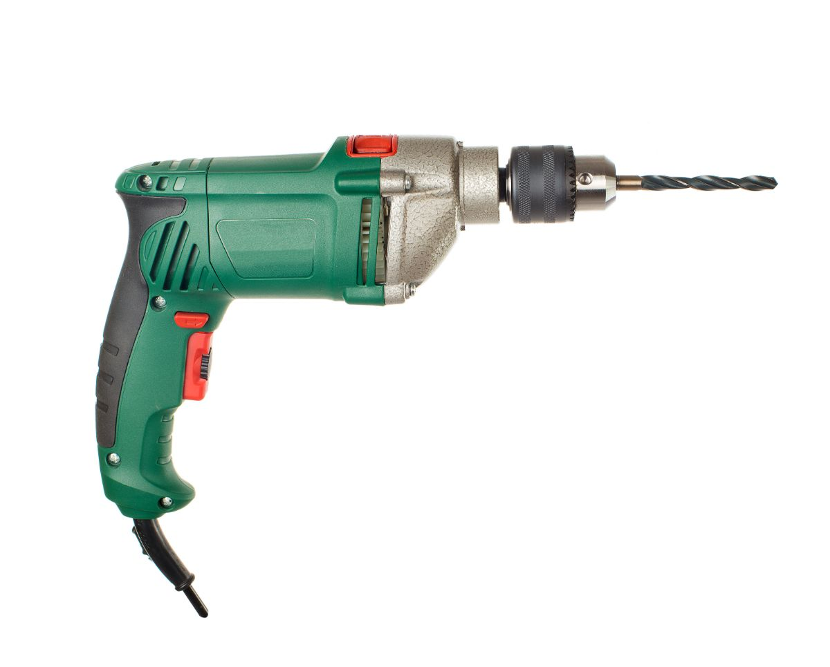 closeup of an Electric drill