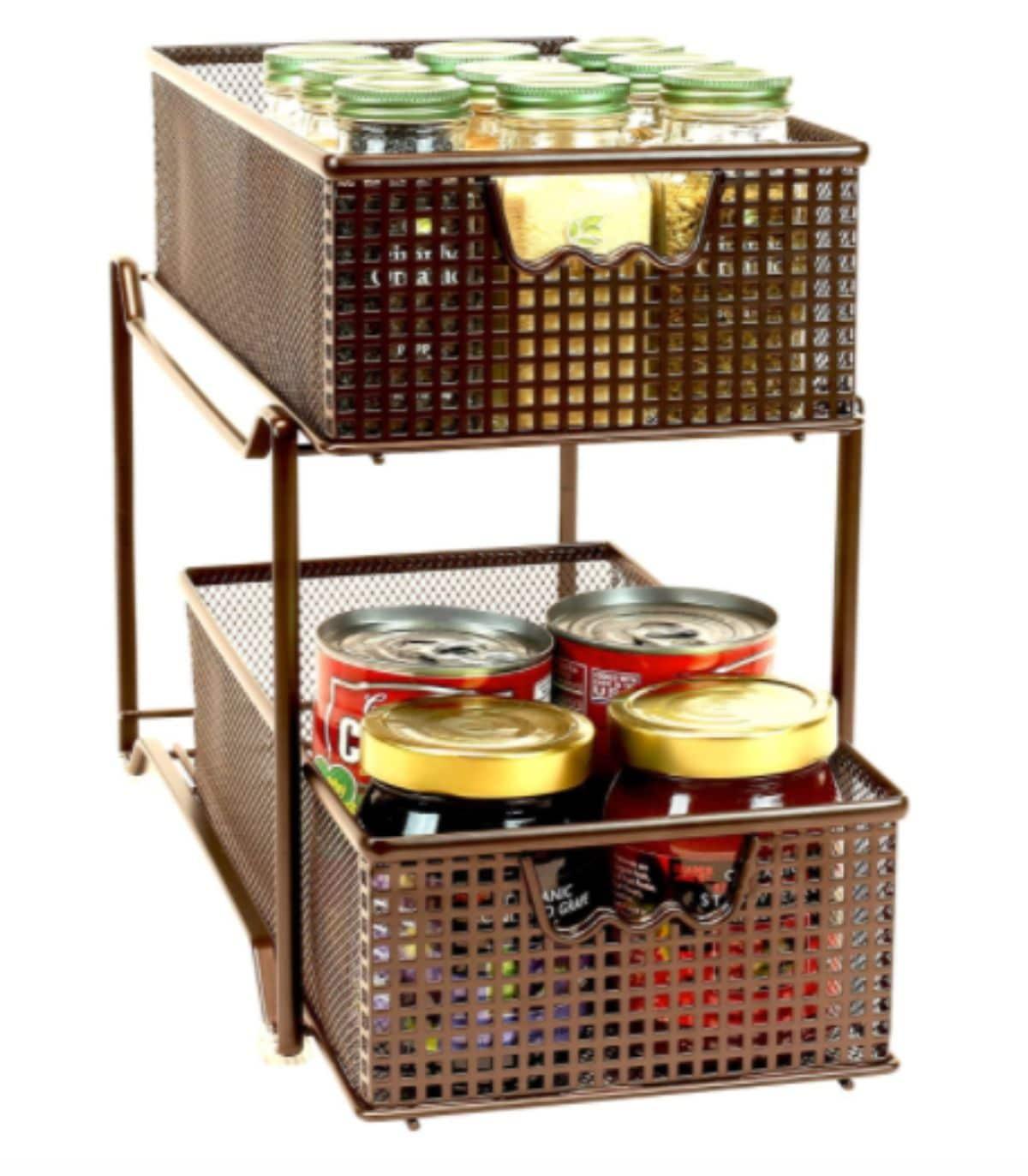 basket sliding cabinet