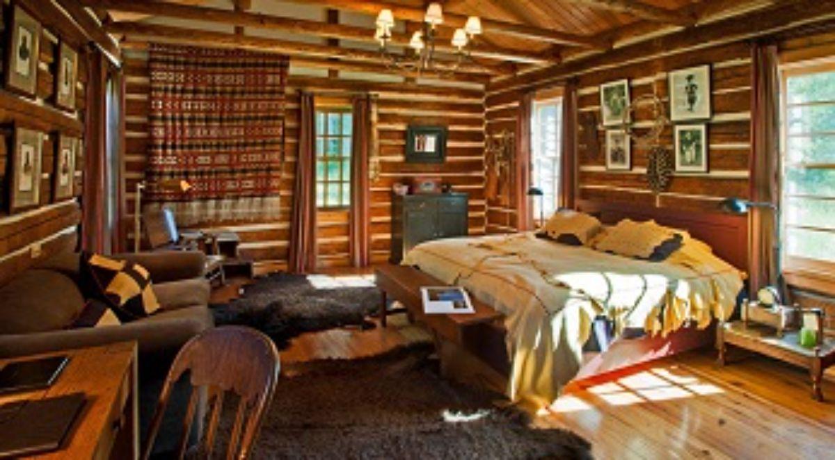 small cabin bedroom interior