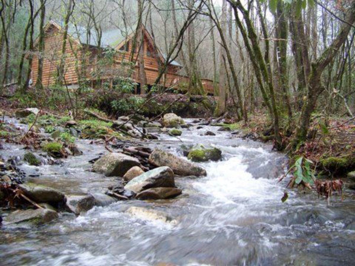 river side small cabin