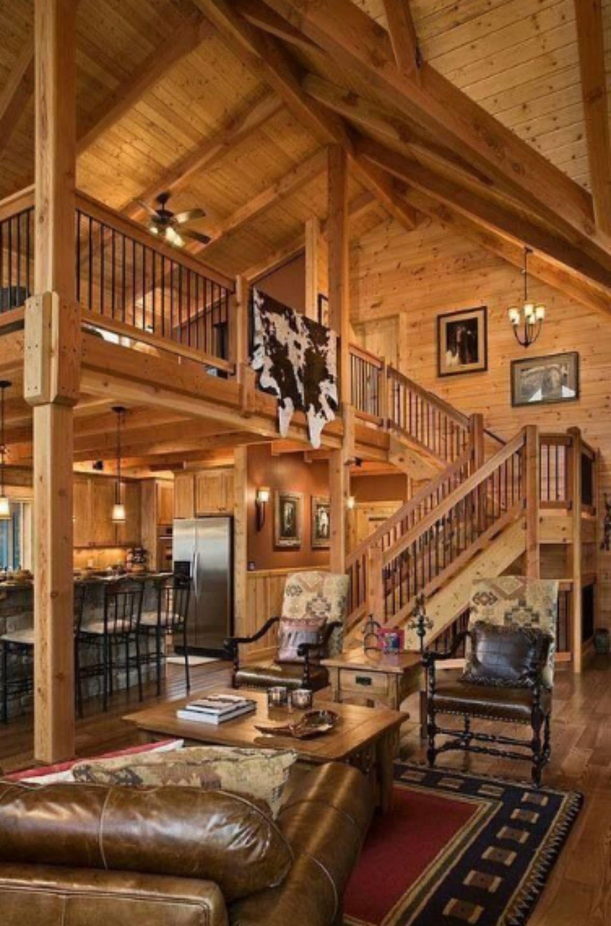 suspended log cabin