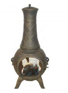 Metal chimney for log home